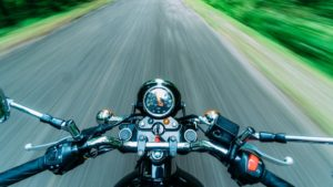 black-motorcycle-on-road