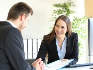 smiling woman executive
