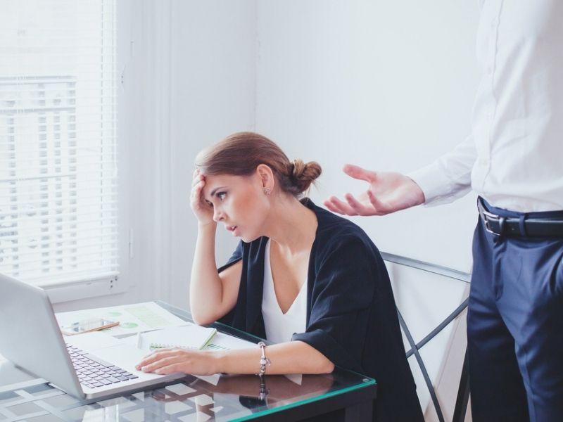 stressed woman employee
